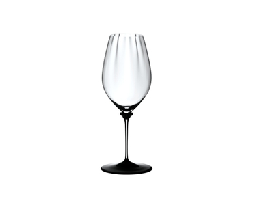 RIEDEL Fatto A Mano Performance Riesling Black Base on a white background