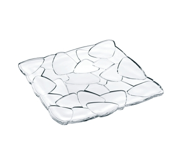 A NACHTMANN Petals Plate square (28 cm / 11 in) on white background