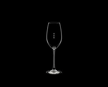 RIEDEL Restaurant Champagne Glass Pour Line ML on a black background