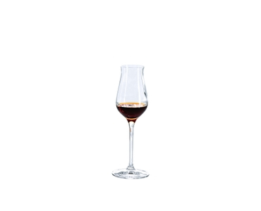 SPIEGELAU Vino Grande Digestive filled with a drink on a white background