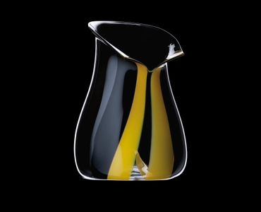 RIEDEL Champagne Cooler Black Tie Yellow on a black background