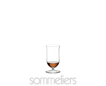 RIEDEL Sommeliers Single Malt Whisky filled with a drink on a white background