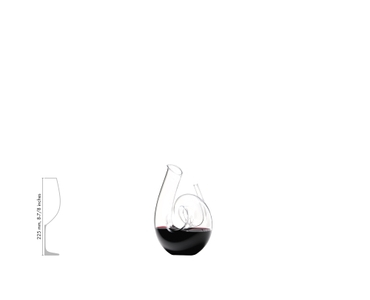 RIEDEL Decanter Curly Clear a11y.alt.product.filled_white_relation
