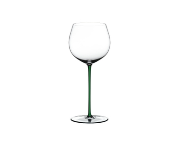 RIEDEL Fatto A Mano Oaked Chardonnay Green on a white background