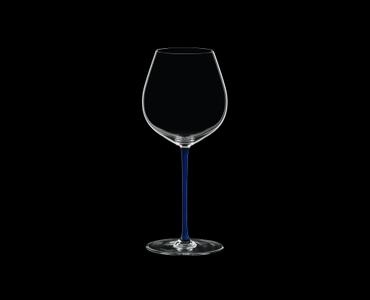RIEDEL Fatto A Mano Pinot Noir Dark Blue R.Q. on a black background