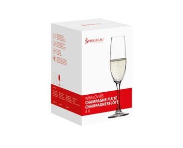 SPIEGELAU Winelovers Champagne Flute in the packaging