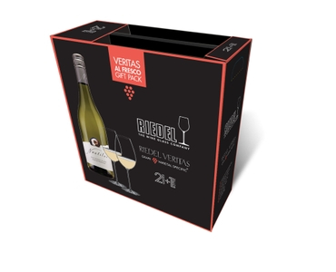 RIEDEL Veritas Al Fresco Gift Pack + Wine in the packaging