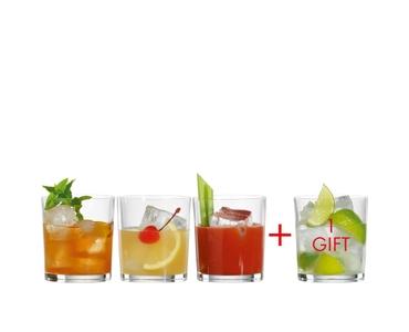 SPIEGELAU Special Glasses Mixdrink gefüllt mit einem Getränk auf weißem Hintergrund