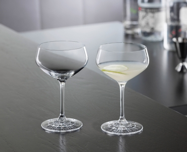 SPIEGELAU Perfect Serve Coupette Glass in use