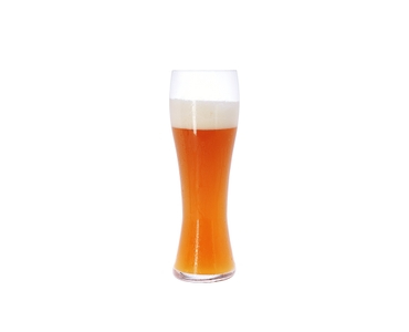 SPIEGELAU Beer Classics Tasting Kit filled with a drink on a white background