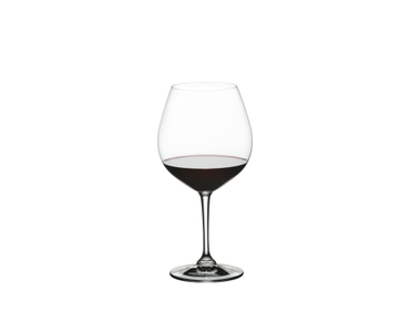 NACHTMANN ViVino Burgundy filled with a drink on a white background