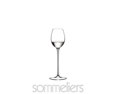 RIEDEL Sommeliers Orchard Fruit filled with a drink on a white background