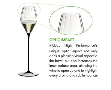 RIEDEL High Performance Champagne Glass Black a11y.alt.product.optic_impact