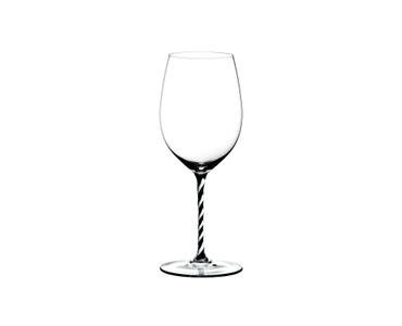 RIEDEL Fatto A Mano Cabernet/Merlot Black & White R.Q. on a white background