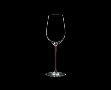 RIEDEL Fatto A Mano Riesling/Zinfandel Red R.Q. on a black background