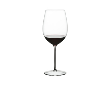 RIEDEL Sommeliers Restaurant Bordeaux Grand Cru filled with a drink on a white background