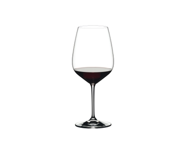 RIEDEL Extreme Restaurant Cabernet filled with a drink on a white background