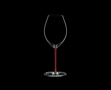 RIEDEL Fatto A Mano Old World Syrah Red R.Q. on a black background