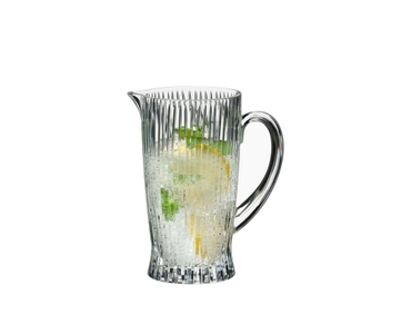 RIEDEL Tumbler Collection Fire Pitcher filled with a drink on a white background