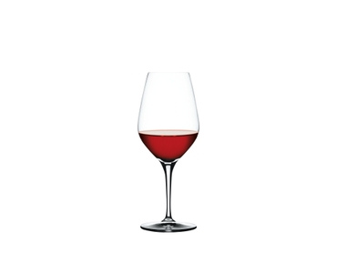 SPIEGELAU Authentis Red Wine filled with a drink on a white background