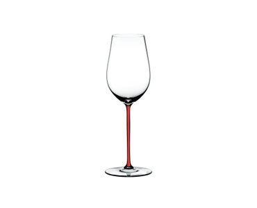 RIEDEL Fatto A Mano Riesling/Zinfandel Red on a white background