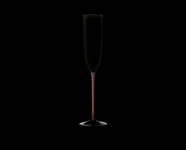 RIEDEL Black Series Collector's Edition Sparkling Wine Black/Red/Black on a black background