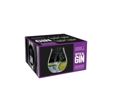 A decorated gin cocktail served in a RIEDEL Tumbler Collection Optical O Gin Glass