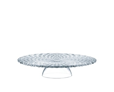 NACHTMANN Bossa Nova Cake Plate with Dome on a white background