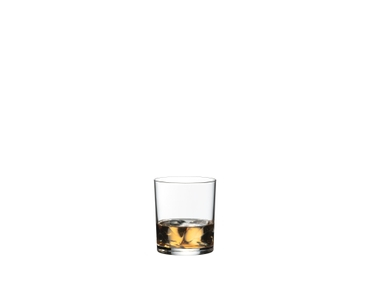 RIEDEL Manhattan Single Old Fashioned filled with a drink on a white background
