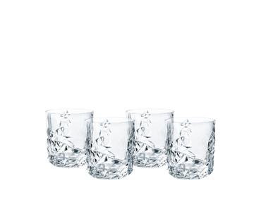 NACHTMANN Sculpture Whisky Tumbler Set/4 on a white background