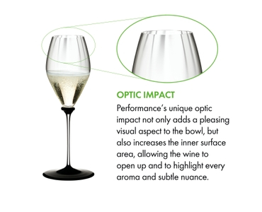 RIEDEL Fatto A Mano Performance Champagne Glass Black Base a11y.alt.product.optical_impact