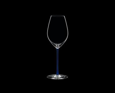 RIEDEL Fatto A Mano Champagne Wine Glass Dark Blue on a black background