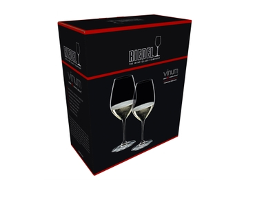 Sample packaging of a RIEDEL Vinum Champagne Wine Glass two pack