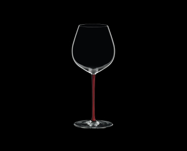 RIEDEL Fatto A Mano Pinot Noir Red R.Q. on a black background