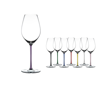 RIEDEL Fatto A Mano Champagne Wine Glass Opal Violet a11y.alt.product.colours