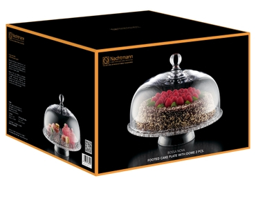 NACHTMANN Bossa Nova Cake Plate with Dome in the packaging