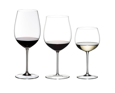 RIEDEL Sommeliers Tasting Set R.Q. filled with a drink on a white background