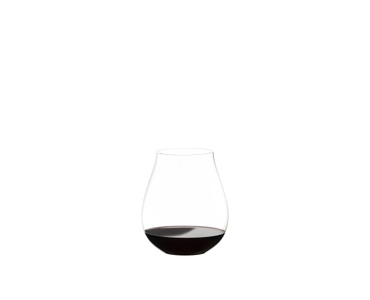 RIEDEL Restaurant O Pinot Noir filled with a drink on a white background