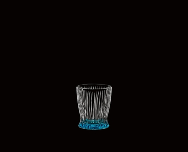 RIEDEL Tumbler Collection Fire Whisky Baby Blue on a black background