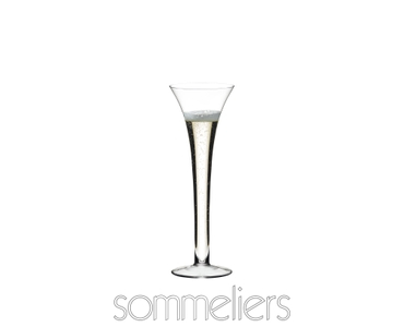 RIEDEL Sommeliers Sparkling Wine filled with a drink on a white background