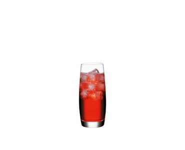 SPIEGELAU Vino Grande Long Drink filled with a drink on a white background