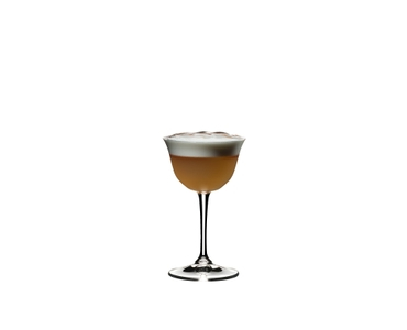 RIEDEL Drink Specific Glassware Sour filled with a drink on a white background