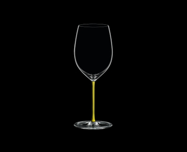 RIEDEL Fatto A Mano Cabernet/Merlot Yellow on a black background