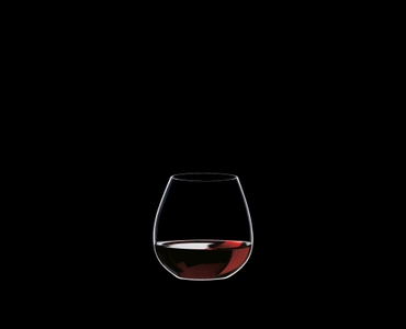 RIEDEL Restaurant O Pinot/Nebbiolo filled with a drink on a black background
