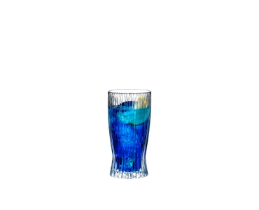 RIEDEL Tumbler Collection Fire Long Drink filled with a drink on a white background