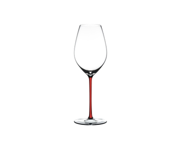 RIEDEL Fatto A Mano Champagne Wine Glass Red on a white background