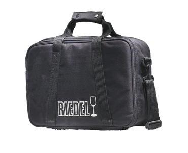 RIEDEL Byo Bag filled with a drink on a white background