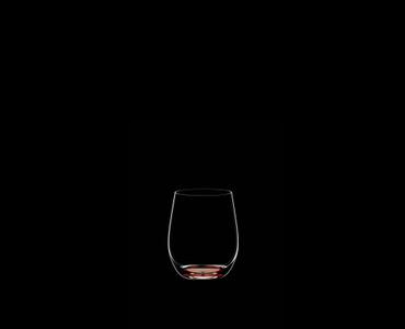 RIEDEL Restaurant O Happy O Zinnoberrot auf schwarzem Hintergrund