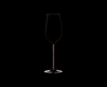 RIEDEL Black Series Collector's Edition Riesling Grand Cru Black/Red/Black on a black background