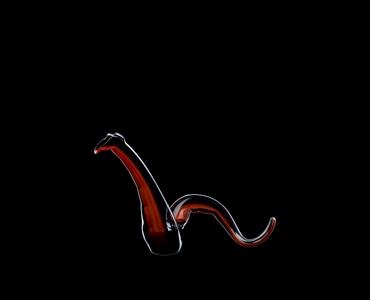 RIEDEL Decanter Twenty Twelve Red/Black R.Q. filled with a drink on a black background